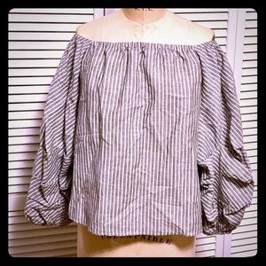NWT Storee (Nordstrom) off the shoulder linen top